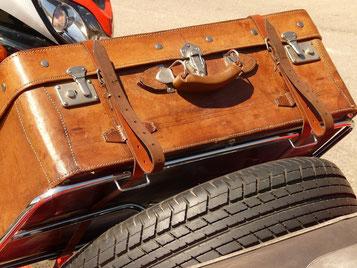 Koffer und Ersatzrad immer dabei