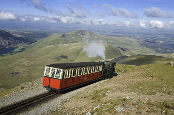 Panoramablick auf die Snowdon Railway