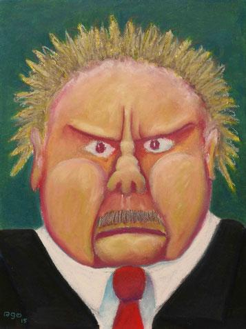 Der geballte Mann, 36x48cm, Ölpastell auf Papier, 2015