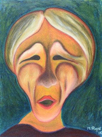 Madame Dubois, 36x48cm, Ölpastell auf Papier, 2015