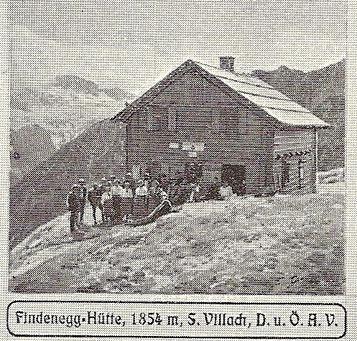 Die Findenegg-Hütte am Wischberg um 1910