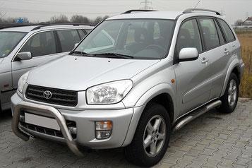 Toyota Rav4 mit hifiausbau im kofferraum aussenansicht.