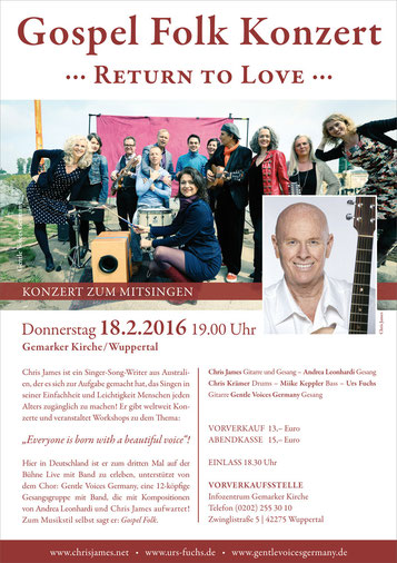 Chris James & The Gentle Voices Germany Mitsingkonzert
