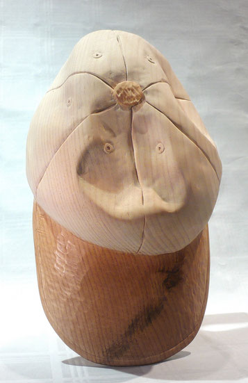 Baseball cap, Baseball Mütze aus Holz geschnitzt