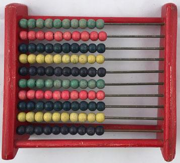 Ábaco europeo, 10 filas de 10 bolas cada una, 14x13 cm