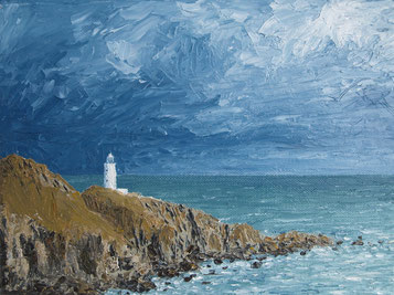 Start Point, Devon (Oil on Canvas, 18 x 24 cm)