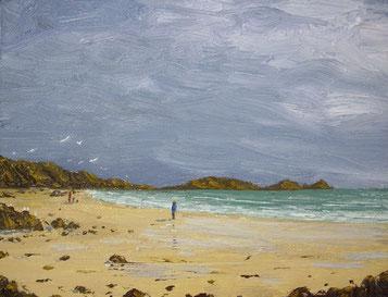 Worm´s Head, Gower (Öl auf Leinwand, 13,6 x 17,7 cm, verkauft)