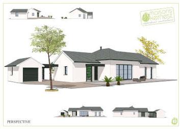 Plans maison plain pied traditionnelle par Maisons Kernest