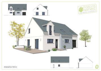 plans maison traditionnelle à étage par MAISONS KERNEST
