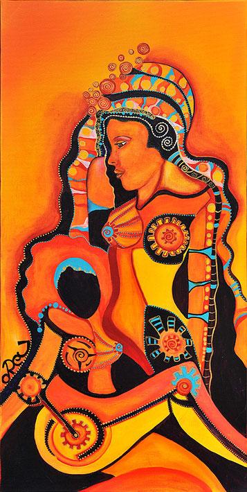 Venus Acryl auf Leinwand 100 x 50