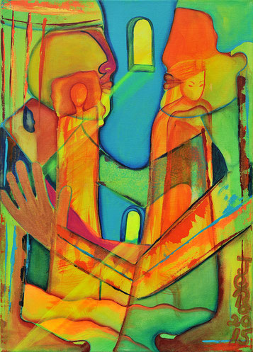 Die Fenster der Seele Acryl auf Leinwand 70 X 50