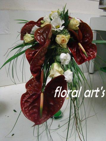 Bouquets de mariée retombants