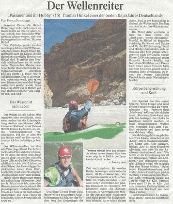 Passauer Neue Presse, 26.11.12 (Auflage ca. 160.000)