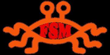 FSM Kirche des fliegenden Spaghettimonsters Pastafari Logo