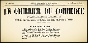Le Courrier du Commerce March 20, 1869