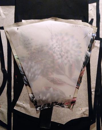 Schnittteile für Weihnachtskleid-Sew-Along 2019 © GriseldaK 2019