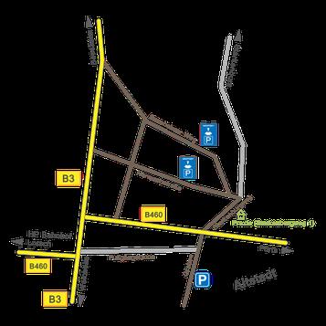 Anfahrt zur Psychotherapie-Praxis Heppenheim bei Bensheim und Weinheim