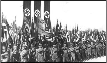 Nazis bei einer Militärparade