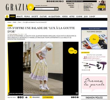 Parution dans Grazia - Nov.2014 - Panoplie Cécile Joly
