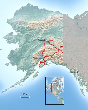 Übersichtskarte von Alaska