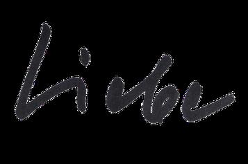 "Das geschriebene Wort ""Liebe"" - Signatur"