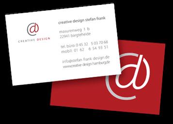 Visitenkarte von CREATIVE DESIGN HAMBURG - Webdesign & Grafikdesign