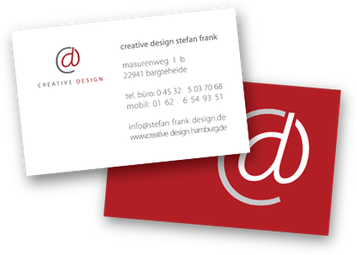 Visitenkarten Creative Design Hamburg Webdesign