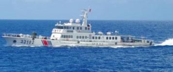 5日以降、尖閣諸島周辺の接続水域で航行が確認された中国公船
