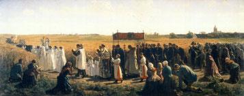 La Bénédiction des blés en Artois de Jules Breton (1857)