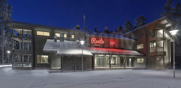 Restaurant und Hotel im Blockhaus nach moderner Art für 55 bis 60 übernachtende Gäste
