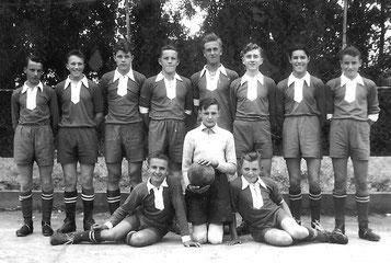 Jugendmannschaft ca. 1955; die Namen sind bekannt