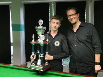 Sieger Alex und Sportwart Martin