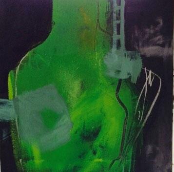 Bild: Enthusiasmus:  60 x 60 cm, auf Leinwand, Acryl-Mischtechnik
