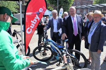 Die e-motion e-Bike Welt Saarbrücken auf dem E-Mobilitätstag in Dillingen