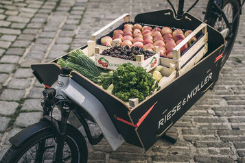 In Berlin-Mitte können Sie sich verschiedene Extras zu Ihrem Lasten e-Bike ansehen.