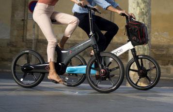 Sehen Sie sich den Unterschied zwischen Falt- und Kompaktrad im Shop in Berlin-Mitte an