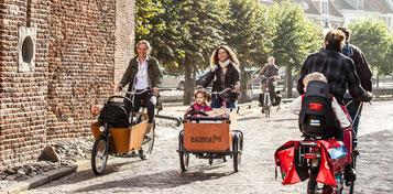 e-Bike Fahren ist sicher und auch für den Transport von Waren, Lasten, Kindern und Hunden geeignet
