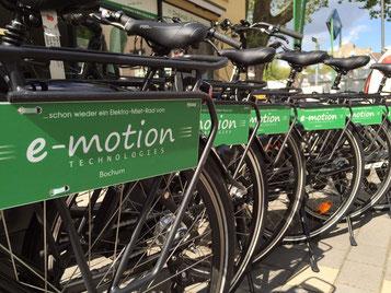e-motion e-Bike Welt Bochum: Bei uns können Sie e-Bikes tage- oder auch wochenweise mieten!
