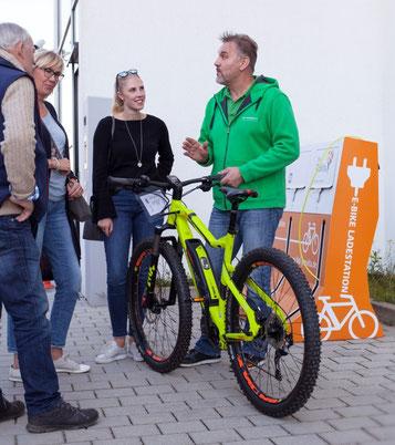 e-Bikes testen auf dem BKK Gesundheitstag