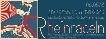 e-motion Worms bei Rheinradeln 2018 mit Komma Laut und Laute Limo