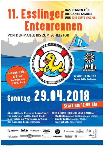 Die e-motion e-Bike Welt Stuttgart ist Hauptsponsor für das 11. Esslinger Entenrennen