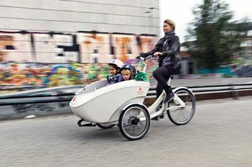 Triobike Cargo- und Lasten e-Bikes in der e-motion e-Bike Welt in Hamburg