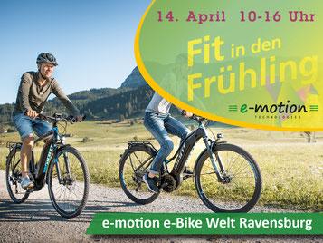 Fit in den Frühling mit der e-motion e-Bike Welt Ravensburg