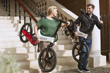 Überzeugen Sie sich selbst von den praktischen Falt e-Bikes von Gocycle und vereinbaren Sie noch heute einen Termin in der e-motion e-Bike Welt Bremen.