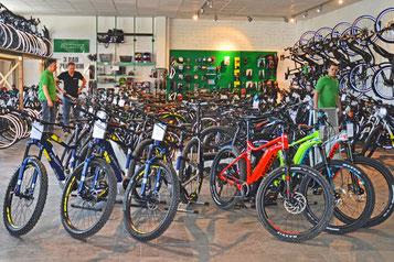 Abwechslungsreiches e-Bike Marken Sortiment im e-motion e-Bike Premium Shop Würzburg