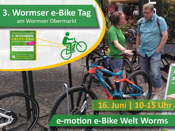 3. Wormser ebike-Tag am 16. Juni mit e-motion Worms
