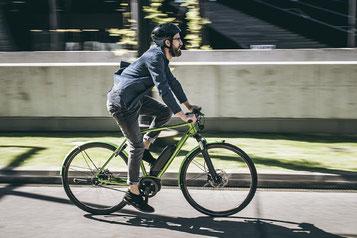 e-Bike fahren ist schnell, gesund und sicher