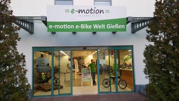 e-Bike Markenvielfalt in der e-motion e-Bike Welt Gießen