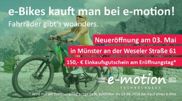 e-motion e-Bike Welt Münster Eröffnungsfeier