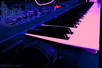 """Le Korg N5EX, mon tout premier synthétiseur. """"Ebsythria"""" fut exclusivement enregistré avec."""